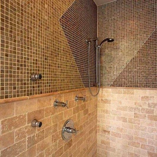 Brown Bathroom Tile Design Ideas Bathroom Pinterest Tile Bathrooms Shower Units And Tile