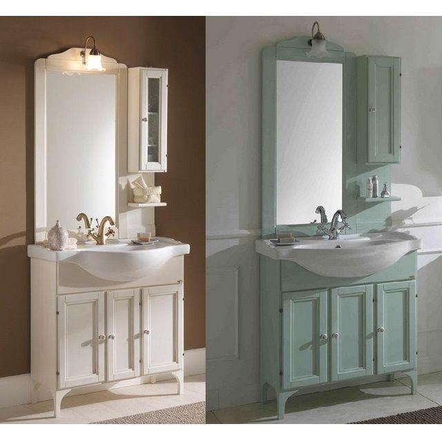 Armadi Classici In Decape.Mobile Bagno Lilium Da 75 Cm 85 Cm O 105 Cm In Decape In 4 Colori