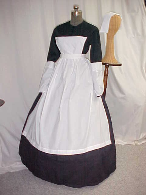 Image detail for -pc victorian civil war nurse dress set girls 4