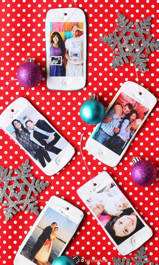Make your Own Personalized IPhone Ornaments | Live Colorful | Ornamentos personalizados en forma de iPhones!!!