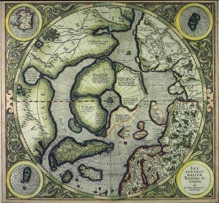 Septentrionalium Terrarum descriptio 1512. Древние карты мира в высоком разрешении - Старинные карты