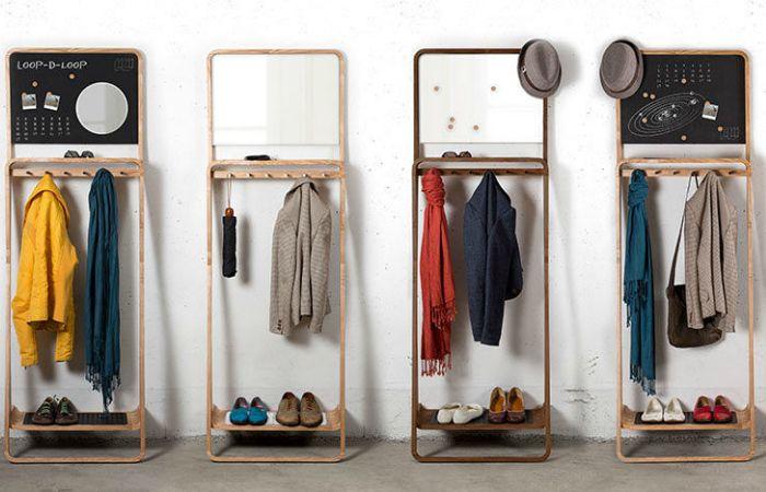 Leaning Loop — это вешалка для верхней одежды, полка для обуви, полка для гаджетов и прочих мелких вещичек, например, ключей, магнитная доска. Для установки этой полки вам потребуется только стена.