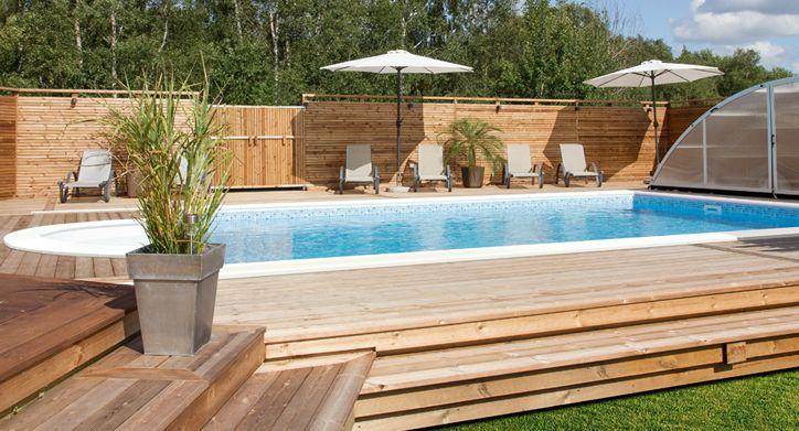 Rektangulär pool från PoolKungen®.