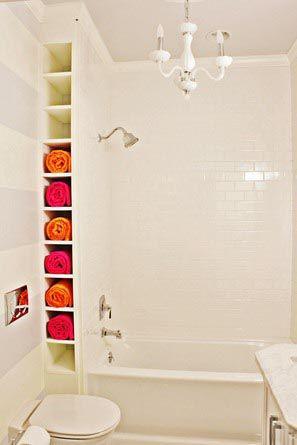 Una buena idea que además permite tener las toallas a mano