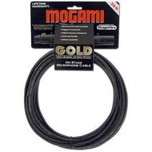 Mogami Gold Studio 15 Microphone Cable Quad Conductor 15 feet by Mogami. $54.95. XLR Male to XLR Female microphone cable.   Nearly every top recording studio is wired with Mogami cable. It is famous for neutral tone and dead quiet background. Gold Studio cables continue that tradition by combining the best Mogami Neglex Quad conductor cable, protected by Mogami's exclusive ultra-high density, 100% coverage spiral copper shield: The best combination of sound qua...