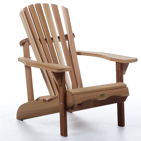 Western Red Cedar Adirondack Chair   Patio And Garden Furniture