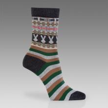 Paul Smith Socks - Dark Grey Fair Isle Pattern Socks