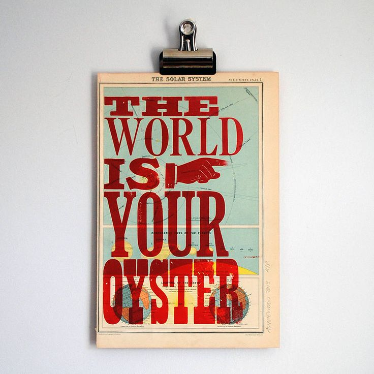 In. Love.  the world is your oyster' letterpress print by asintended ...