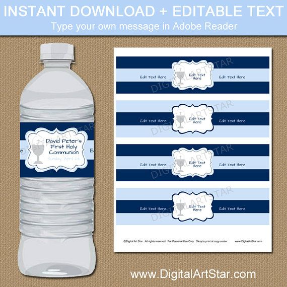 Best First Communion Party Ideas Images On   Water