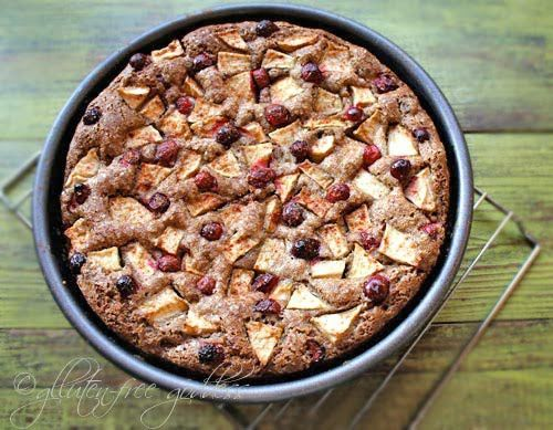 Gluten-Free Apple Cake with Cranberries.: Apples Cakes Recipes, Gluten Free, Gluten Fre Goddesses, Apple Cakes, Glutenfree, Gluten Fre Apples, Cranberries, Free Apples, Apple Cake Recipes