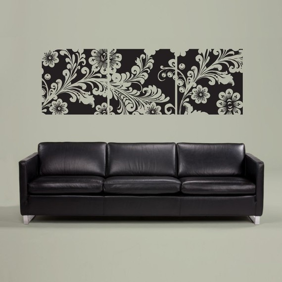 Best Vinilos Images On Pinterest Wall Stickers Decorative - Can i put a wall decal on canvas