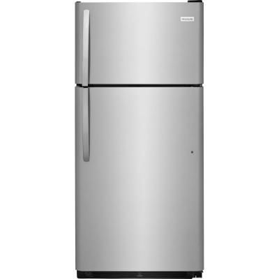 Premium 12 Cu Ft Frost Free Top Freezer Refrigerator In Stainless Steel Prn1226 Stainless Steel Refrigerator Top Freezer Refrigerator Frigidaire Refrigerator