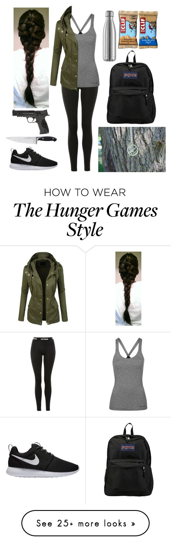 """""""Ready for the apocalypse"""" by harrypotter-gurl on Polyvore featuring Topshop, LE3NO, NIKE, JanSport, Zwilling and Smith & Wesson"""