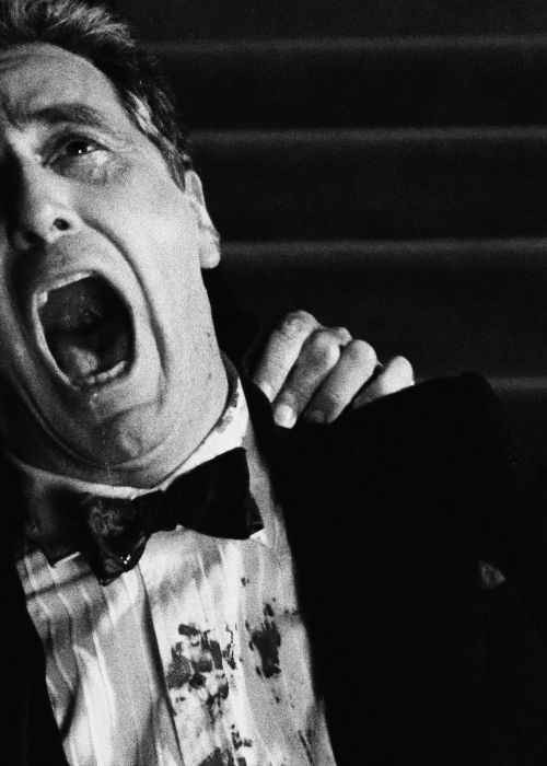 Al Pacino in The Godfather Part III - This scene in the movie is the most moving scene... a silent scream of a broken man.