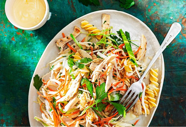 Everyone love this dish that blurs the lines between pasta and coleslaw.