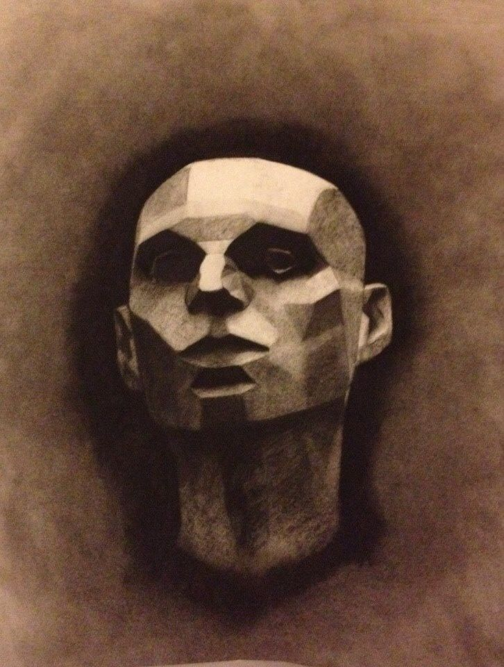 plains of the head study charcoal 18x24 2014 t. johnsen
