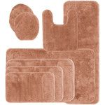 Royal Velvet Signature Soft Bath Rug Collection, Brown - Bath Mats + Sets > Bath Rugs