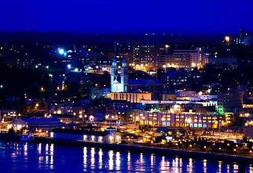 Chicoutimi le soir Chicoutimi at night