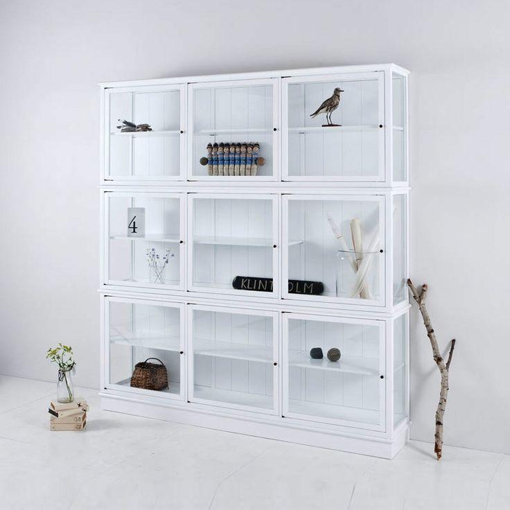 Glasvitrine weiß von Oliver Furniture, Breite 187 cm