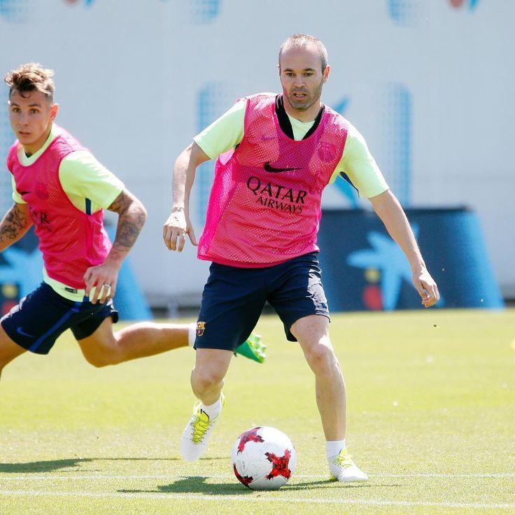 Preparando el último partido de la temporada! Buenas sensaciones! Força Barça!!