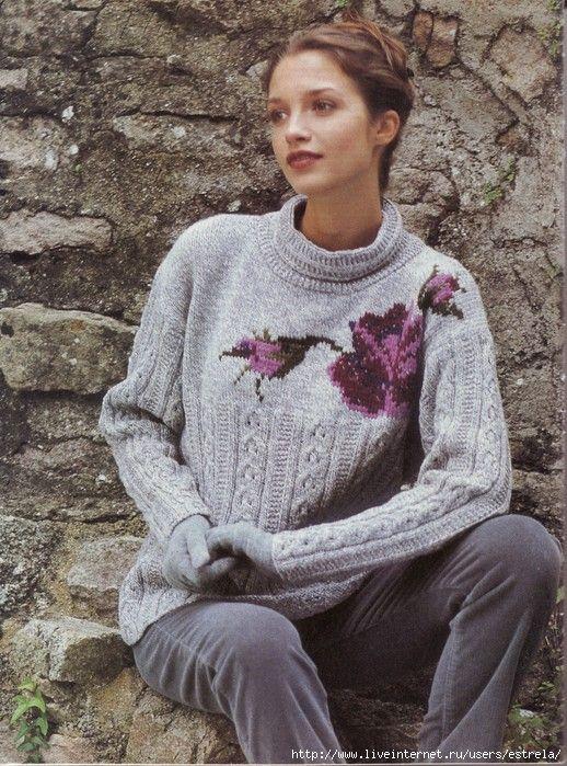 Пуловер с вышитой кокеткой. Обсуждение на LiveInternet - Российский Сервис Онлайн-Дневников