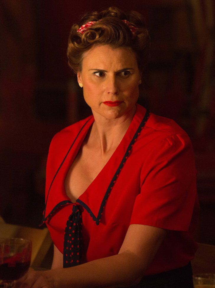 Pin for Later: All of American Horror Story: Freak Show's Gruesome Fatalities Amazon Eve Amazon Eve puts up a fight against Dandy, saving Desiree but ending up dead at Dandy's hand.