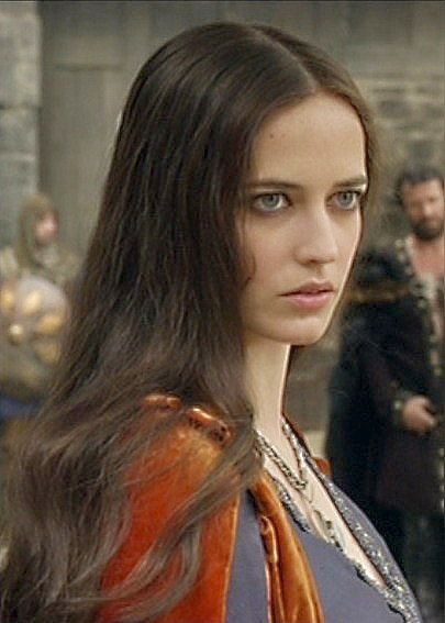 Eva as 'Morgan' in the TV series 'Camelot'.
