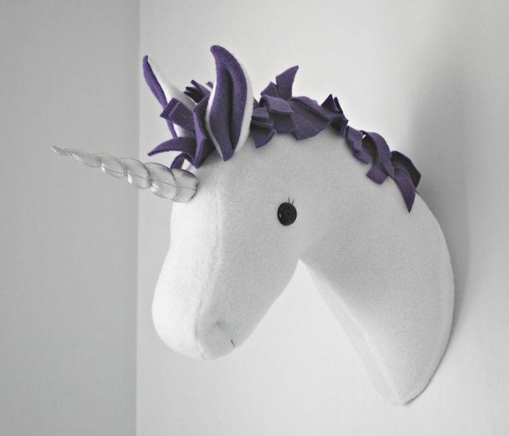 Adorable felt unicorn head