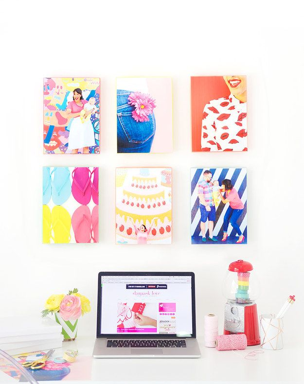 Print out your favorite photos and tape them to gift box or shoe box lids. | 21 Easy DIY Projects To Decorate Your Grown Up Apartment