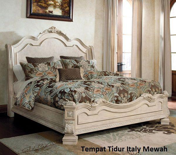 Tempat Tidur Italy Mewah, Tempat Tidur Jati, tempat tidur minimalis