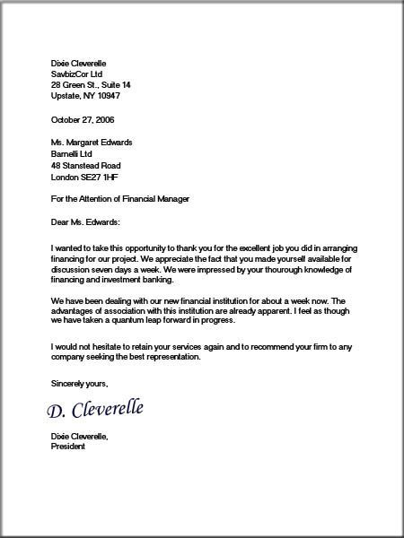 official company letter
