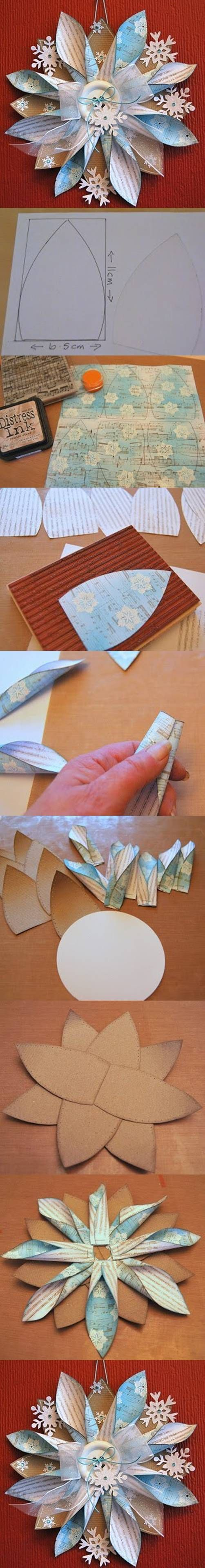 DIY Paper Flower Ornaments http://www.usefuldiy.com/diy-paper-flower-ornaments/