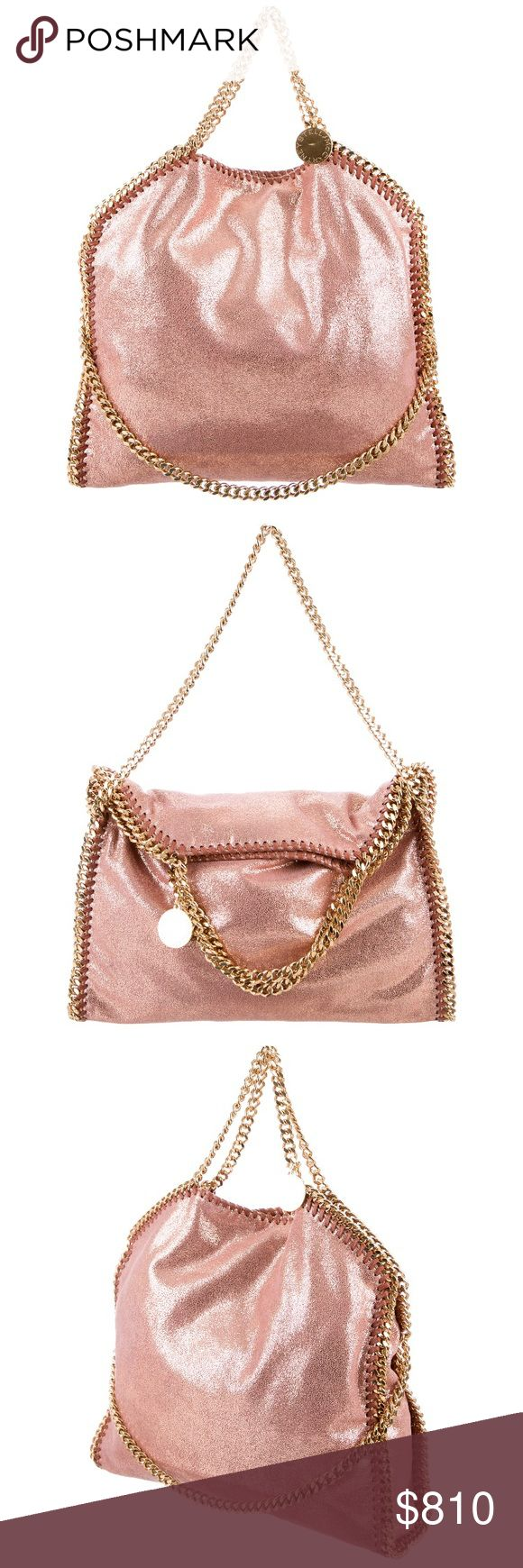 "Stella McCartney Falabella FINAL SALE FIRM PRICE! Comes with the dust bag, shoulder strap 5.5"", height 15"", handle drop 5"", depth 4"", width 14"". Minor signs of wear. Copper pink color Stella McCartney Bags"