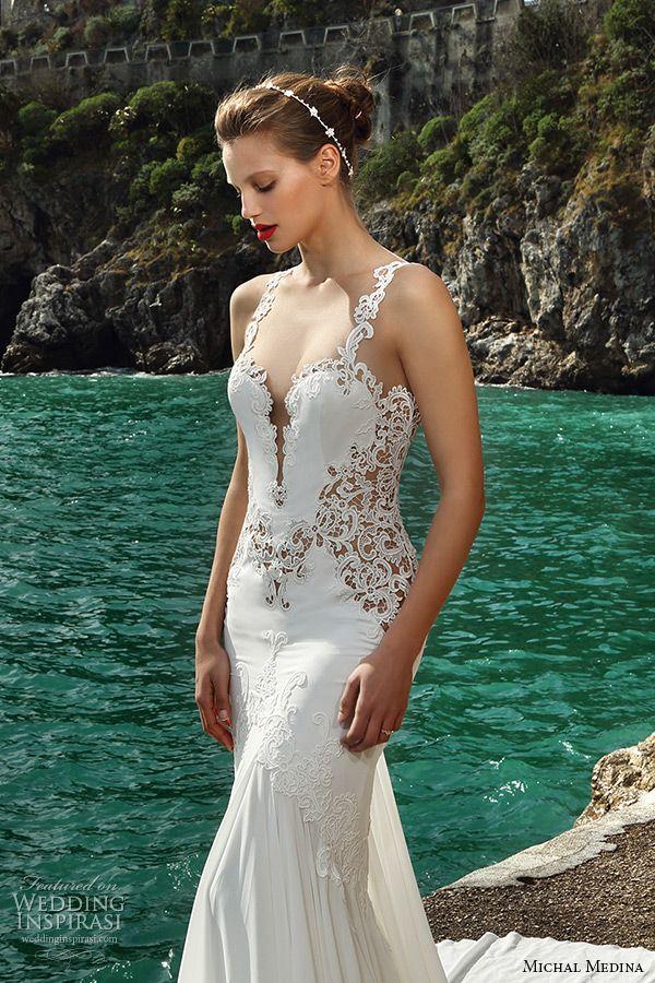 Michal Medina #Bridal Spring 2016 #Couture #Wedding Dresses   Wedding Inspirasi  #weddings #weddinggown #weddingdress
