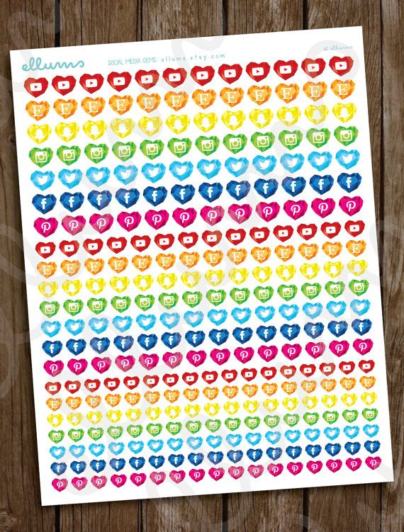 How cute! Use these stickers to track your social media