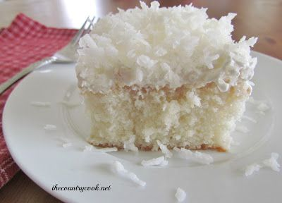 Coconut Cream Poke Cake: Desserts, Cream Poke, Coconut Poke Cakes, Coconut Cream Cakes, Cakes Recipes, Cakes Mixed Recipes, Country Cooking, Sweet Tooth, Coconut Cakes