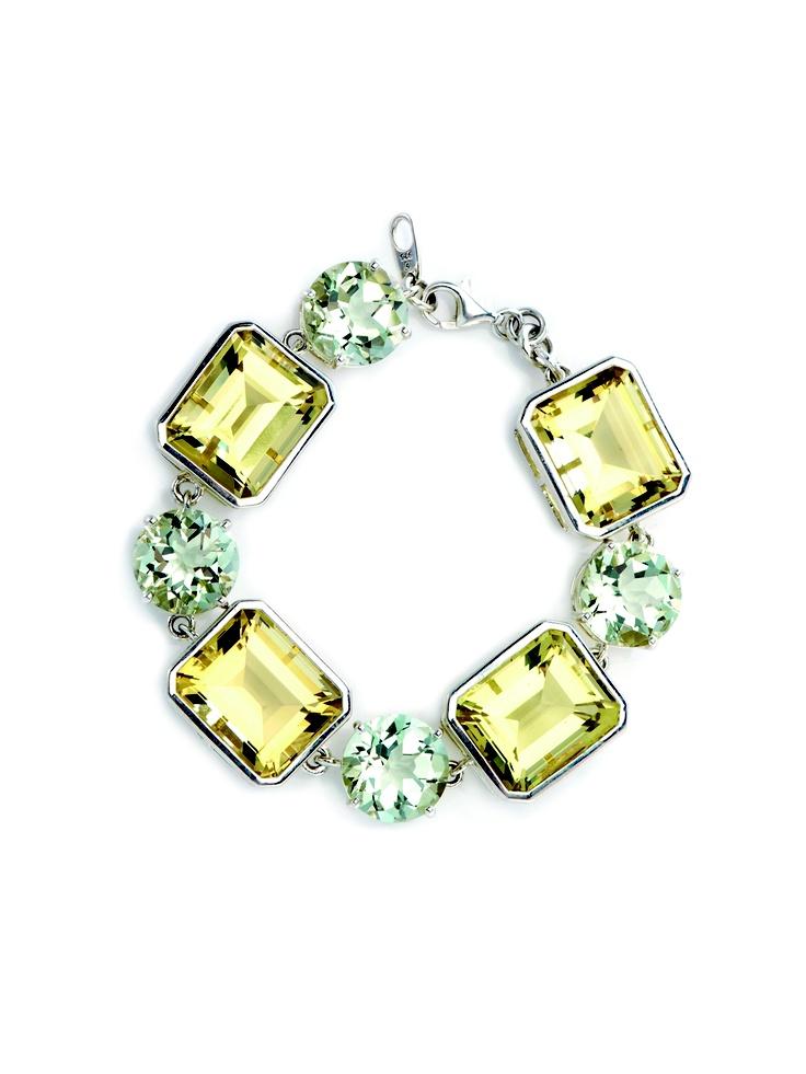 Green & Lime Quartz Statement Cocktail Bracelet