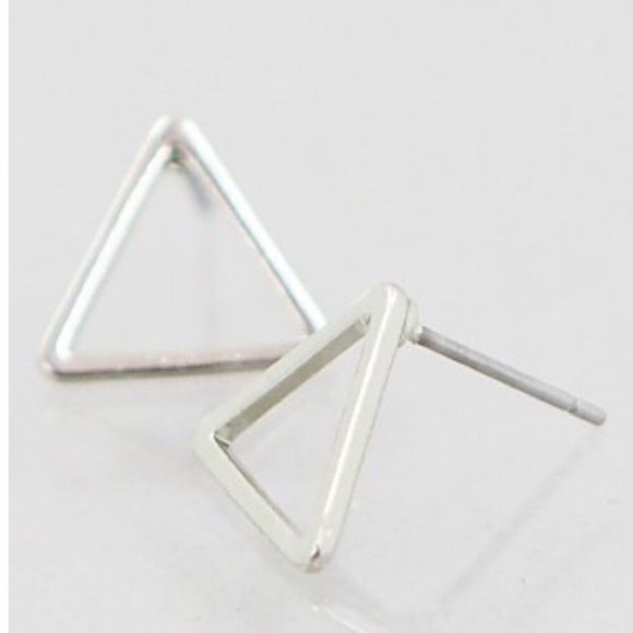 triangle studs Brand new open triangle studs -  *please understand that this is retail meaning I had to purchase from a wholesaler so the current price is the only way I will make a profit - price is firm - thank you for your support ❤️ Jewelry Earrings