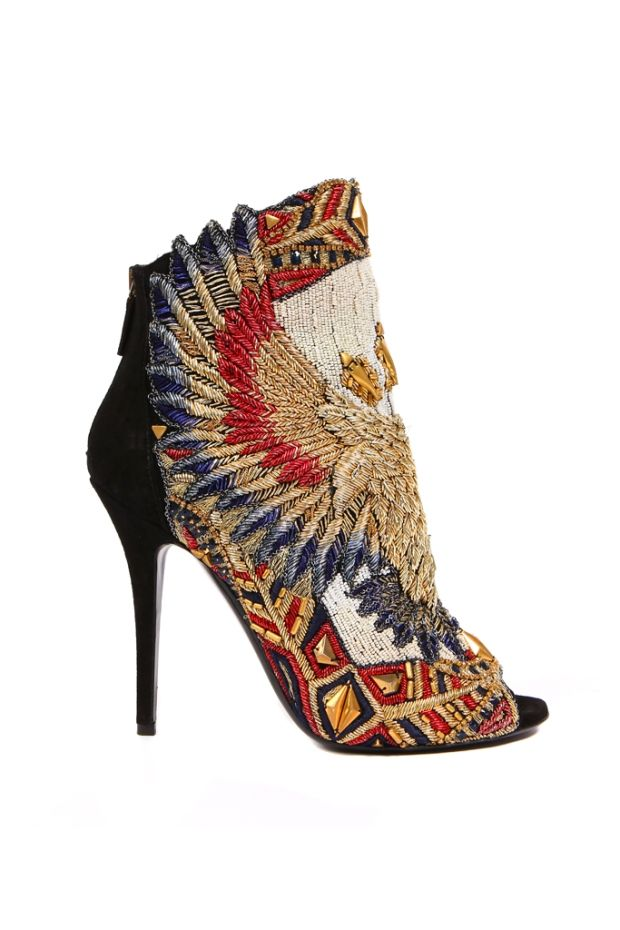 This Balmain shoe is beautiful-I can't imagine actually wearing it, but it's quite a work-of-art