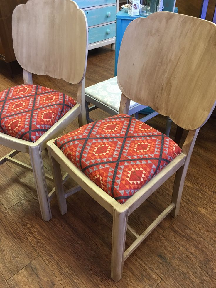 Chairs - Set of 2 Rustic Southwestern Chairs