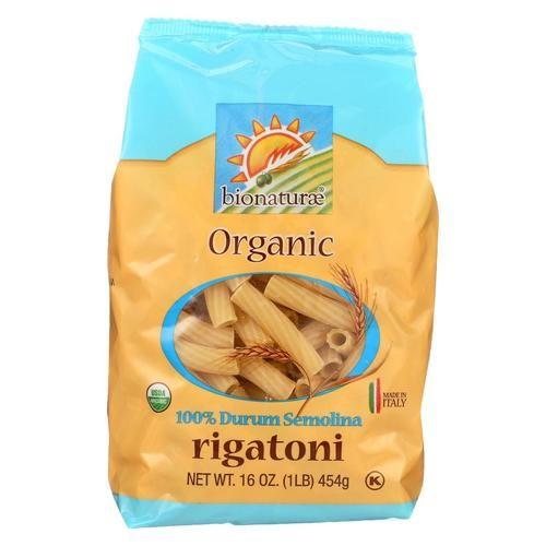Bionaturae Pasta - Organic Durum Semolina Rigatoni - Case Of 12 - 16 Oz.