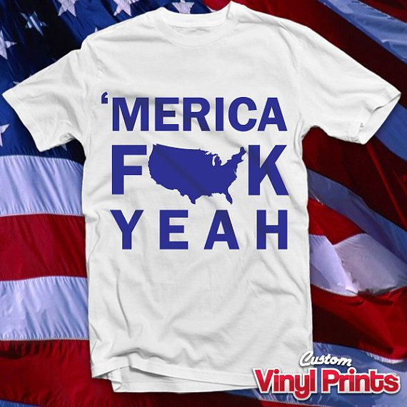 Funny 'Merica T-Shirt - Fourth of July - July 4th - Memorial Day - Redneck - America - USA - Team America - Shirt - CustomVinylPrints