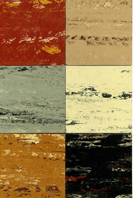Samples of Ma-Ti-Co Asphalt Floor Tiles...saw this on floors a lot...especially out on the farm