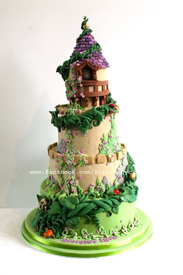 Fairy tale castle cake with beanstalk - Cake by Zoe's Fancy Cakes
