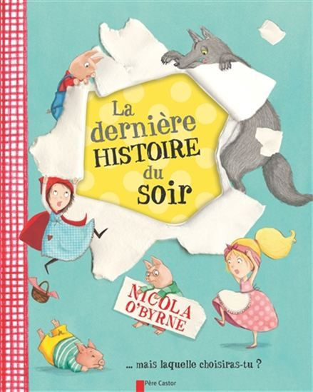 Une histoire sur le thème du coucher, présentant des personnages de contes classiques, tels que le Petit Chaperon rouge, Cendrillon ou les trois petits cochons et des personnages originaux.