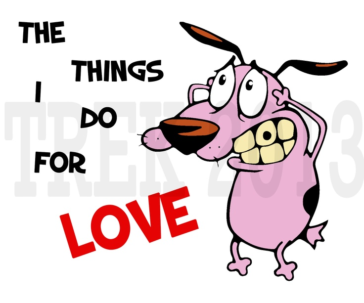 Courage the cowardly dog tattoo design graphic design for Courage the cowardly dog tattoo