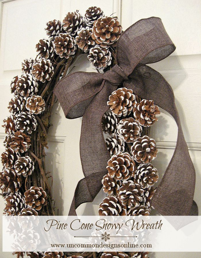 Pine Cone Wreath for winter and Christmas