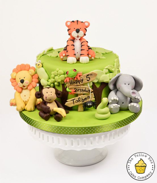 All his favourite animals. - by YellowBeeCakeCompany @ CakesDecor.com - cake decorating website
