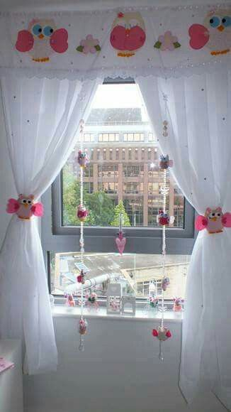 Cortina artes pinterest for Cortinas infantiles nina