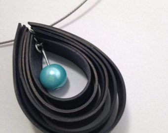 Upcycled bicycle inner tube necklace - recycled bike